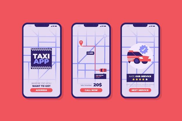Interfaccia dell'applicazione taxi