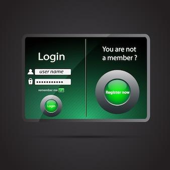 Interfaccia della pagina di accesso