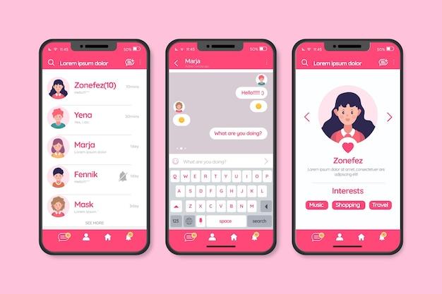 Interfaccia di chat per l'app di incontri