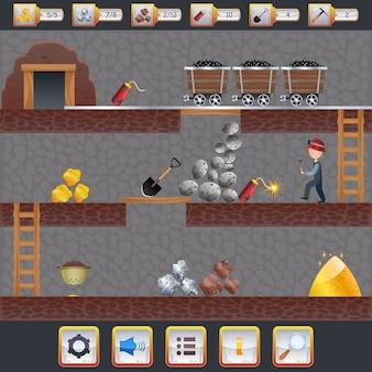 Interfaccia di gioco minerario