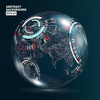 Interfaccia di globalizzazione futuristica