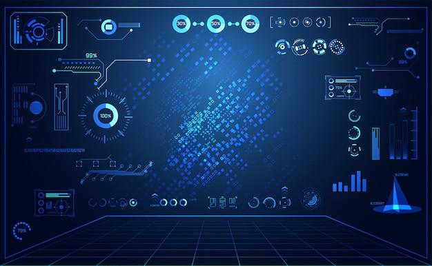 Interfaccia futuristica astratta di hud di concetto dell'interfaccia utente di tecnologia