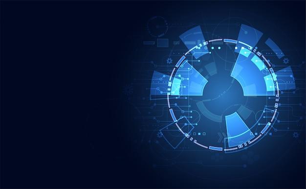 Interfaccia futuristica interfaccia utente