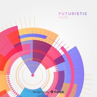 Interfaccia hud futuristica con stile sfumato