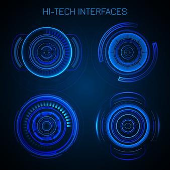 Interfaccia hud futuristica