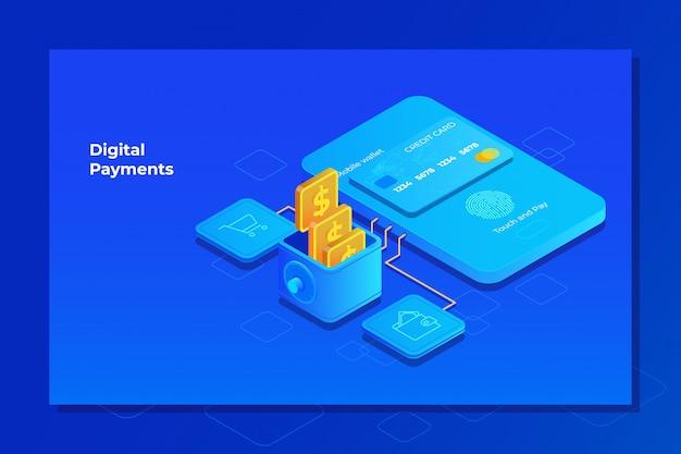 Interfaccia mobile del sistema di pagamento
