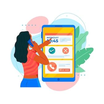 Interfaccia mobile per la prenotazione di appuntamenti