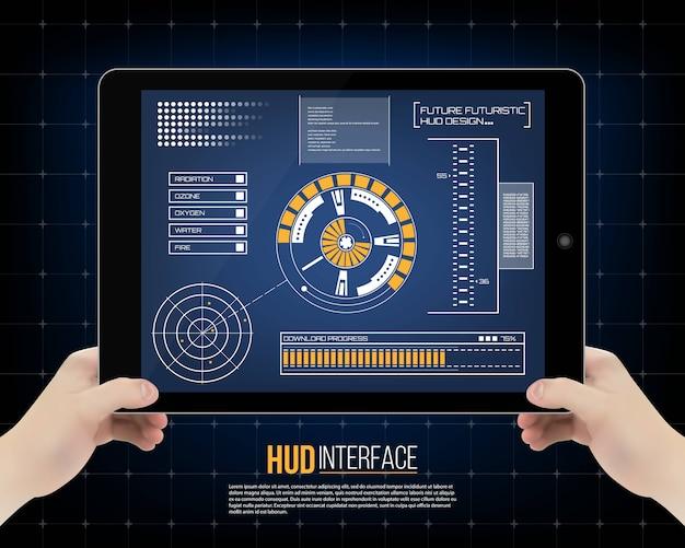 Interfaccia tecnologia futuristica hud sfondo dell'interfaccia utente.