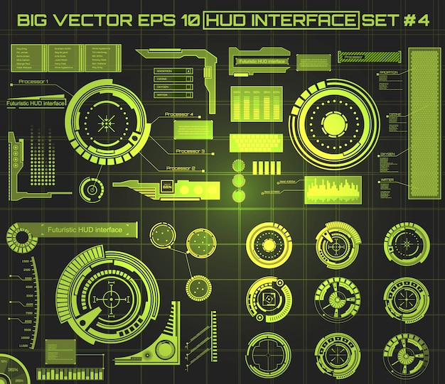 Interfaccia tecnologia futuristica hud ui background.