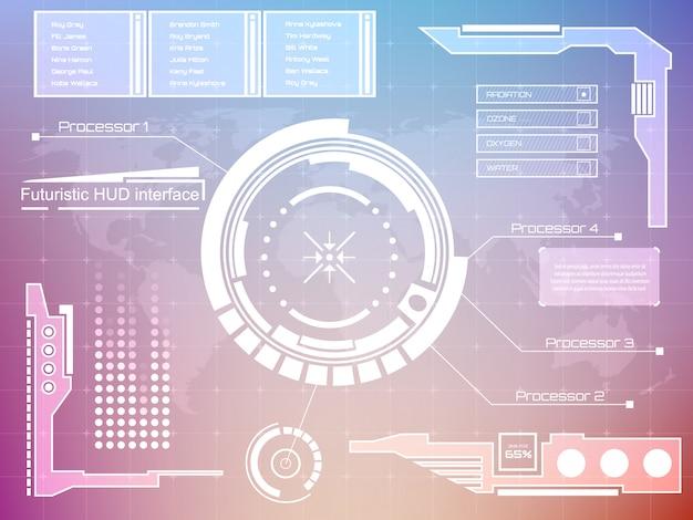 Interfaccia tecnologia futuristica hud ui background.