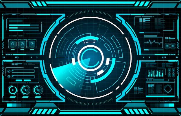 Interfaccia tecnologica circle hud