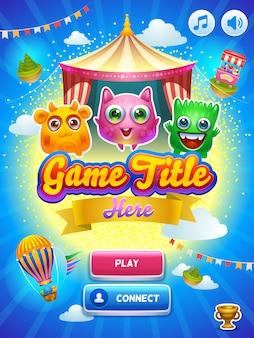 Interfaccia utente del gioco. schermo principale.