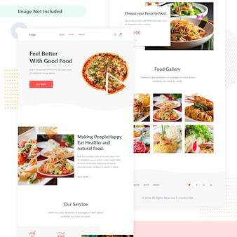 Interfaccia utente del modello di email di food festival