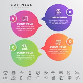 Interfaccia utente di business infographic