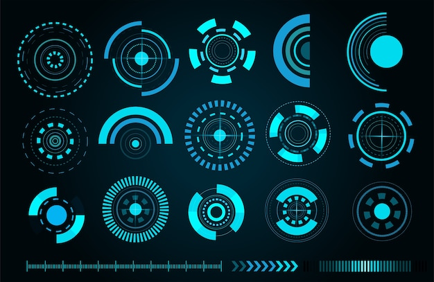 Interfaccia utente futuristica di sci fi