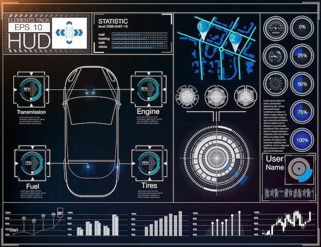 Interfaccia utente futuristica. interfaccia utente hud.