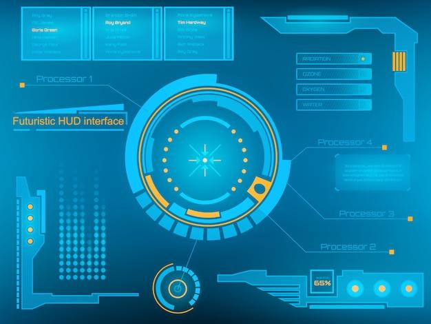 Interfaccia utente touch virtuale futuristica hud.