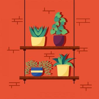 Interior design decorativo per piante da appartamento