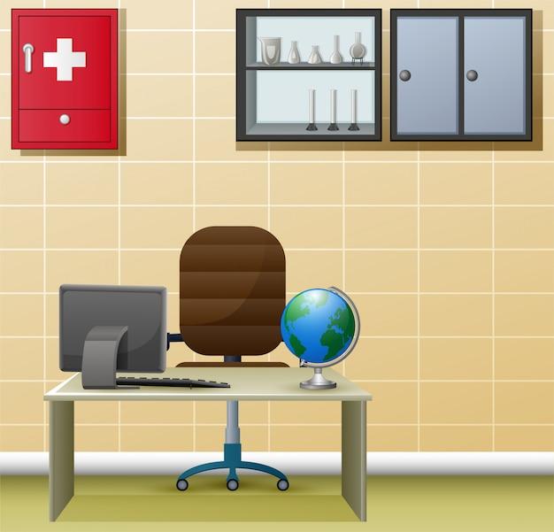 Interior design semplice dell'ufficio del medico