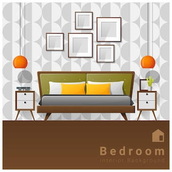 Interior design sfondo camera da letto moderna