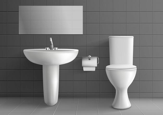 Interiore moderno della stanza della toilette