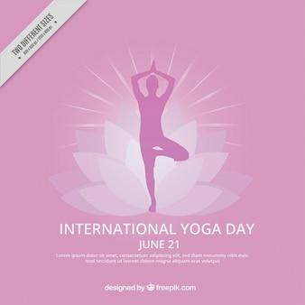 Internazionale di yoga giorno sfondo