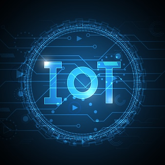 Internet del fondo del cerchio del circuito dell'estratto di tecnologia di cose