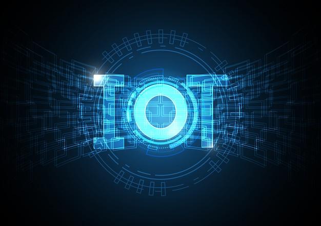 Internet dell'estratto del cerchio di tecnologia di cose