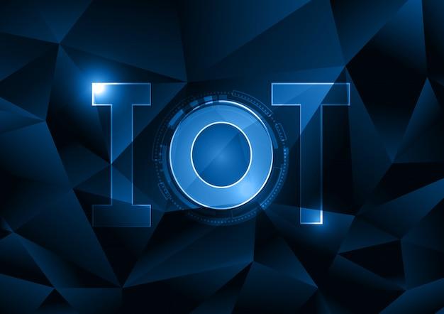 Internet delle cose tecnologia cerchio poligonale astratto