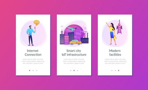 Internet globale delle cose modello di interfaccia app smart city