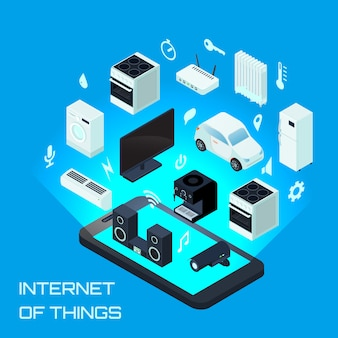 Internet of things concetto di design urbano