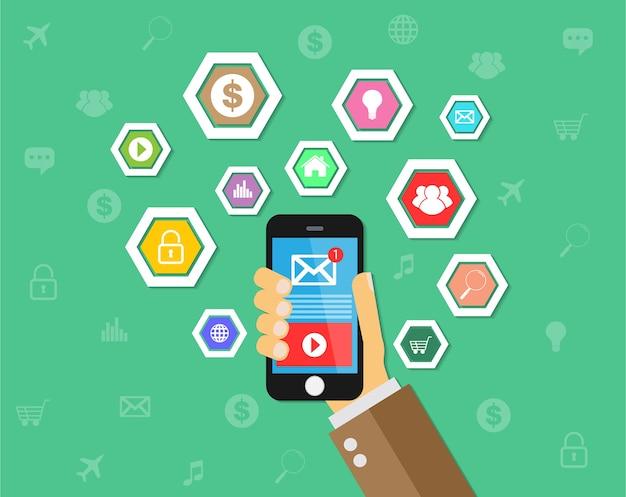 Internet of things tecnologia del telefono cellulare