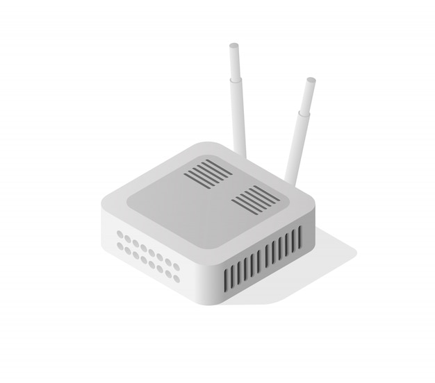 Internet router isometrico