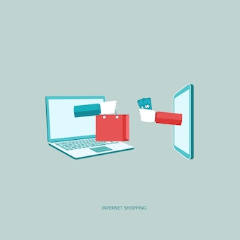 Internet vendita, shopping on line