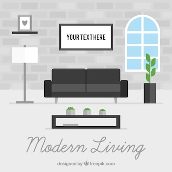 Interno del salotto moderno