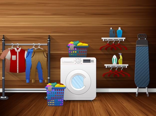 Interno della lavanderia