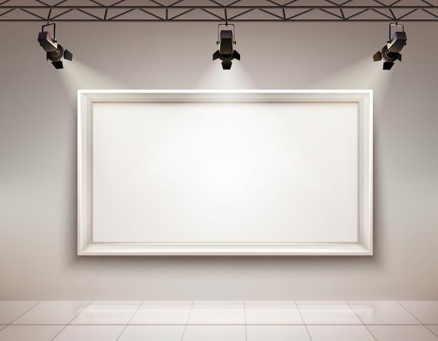 Interno della sala della galleria