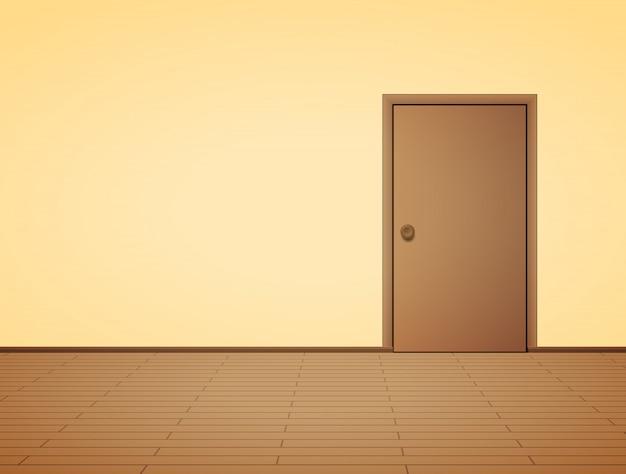 Interno pallido con porta
