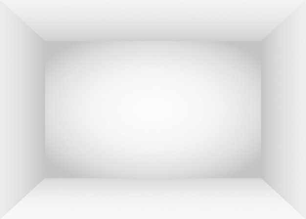 Interno vuoto dello spazio della stanza bianca