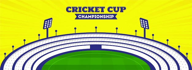 Intestazione del campionato di cricket cup
