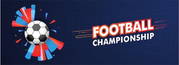 Intestazione del sito web o design di banner con illustrazione di calcio