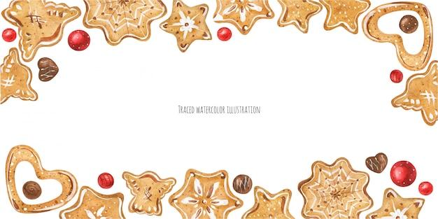 Intestazione di biscotti allo zenzero