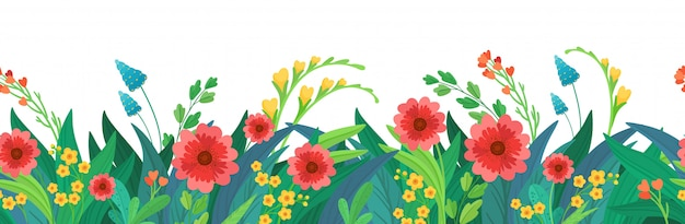 Intestazione di fiori senza soluzione di continuità