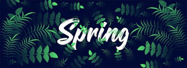 Intestazione di primavera o design di banner