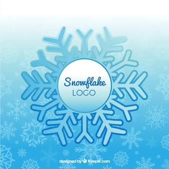 Inverno fiocco di neve logo