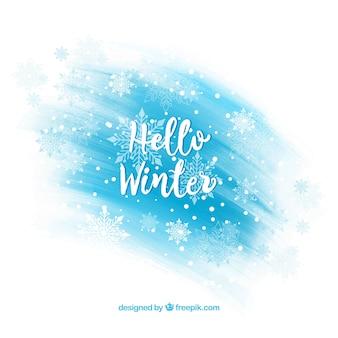 Inverno lettering sfondo