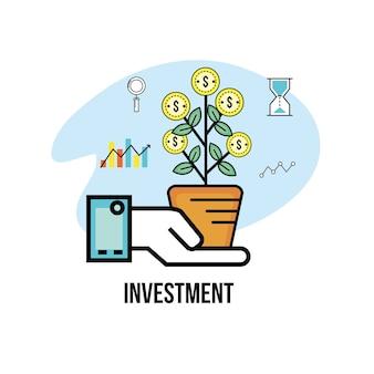 Investimenti e analisi per strategia aziendale di busines
