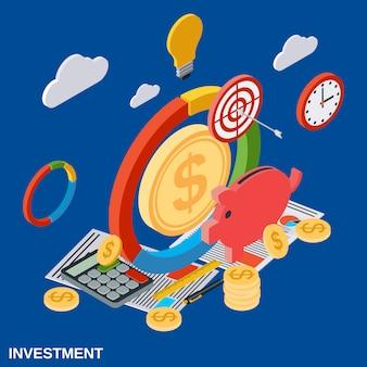 Investimento piano isometrico