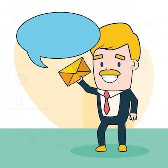 Invia il concetto di e-mail
