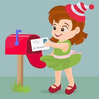 Invio di una lettera a babbo natale